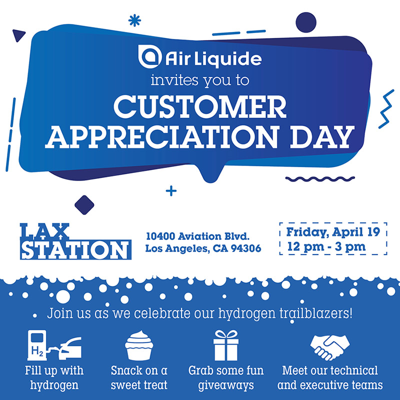 Air Liquide Customer Appreciation Day at LAX Hydrogen Station - April 19, 2019