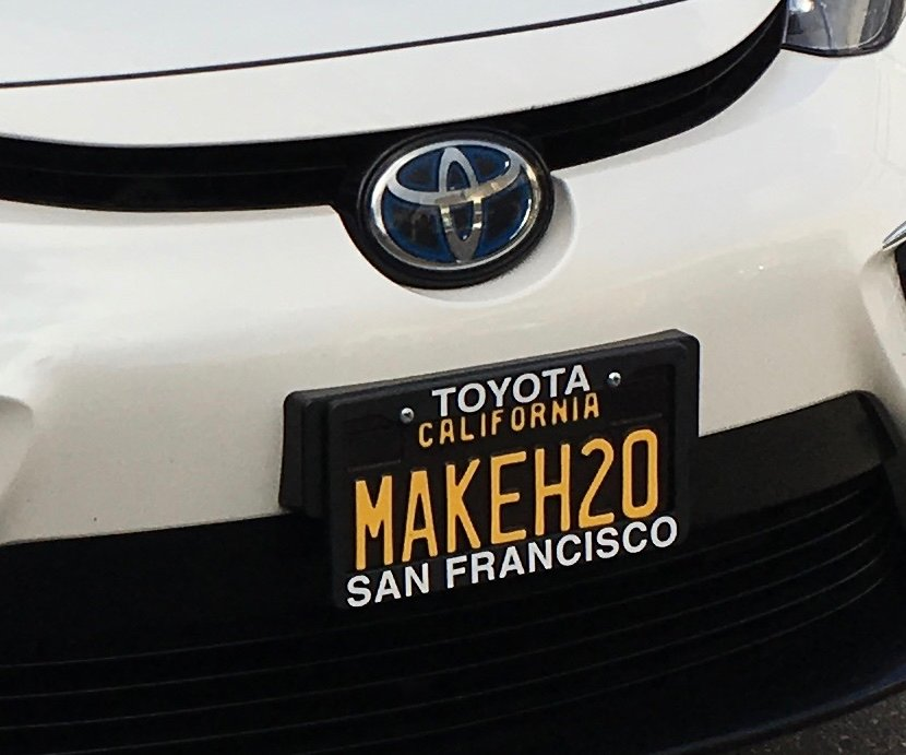 Rodney Pearlman's MakeH2O license plate
