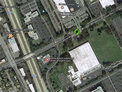 San Ramon hydrogen station location map