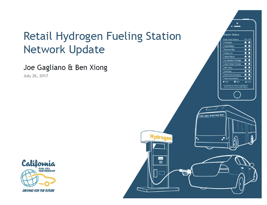 Cover page from the 7/26/2017 H2 Stations Webinar