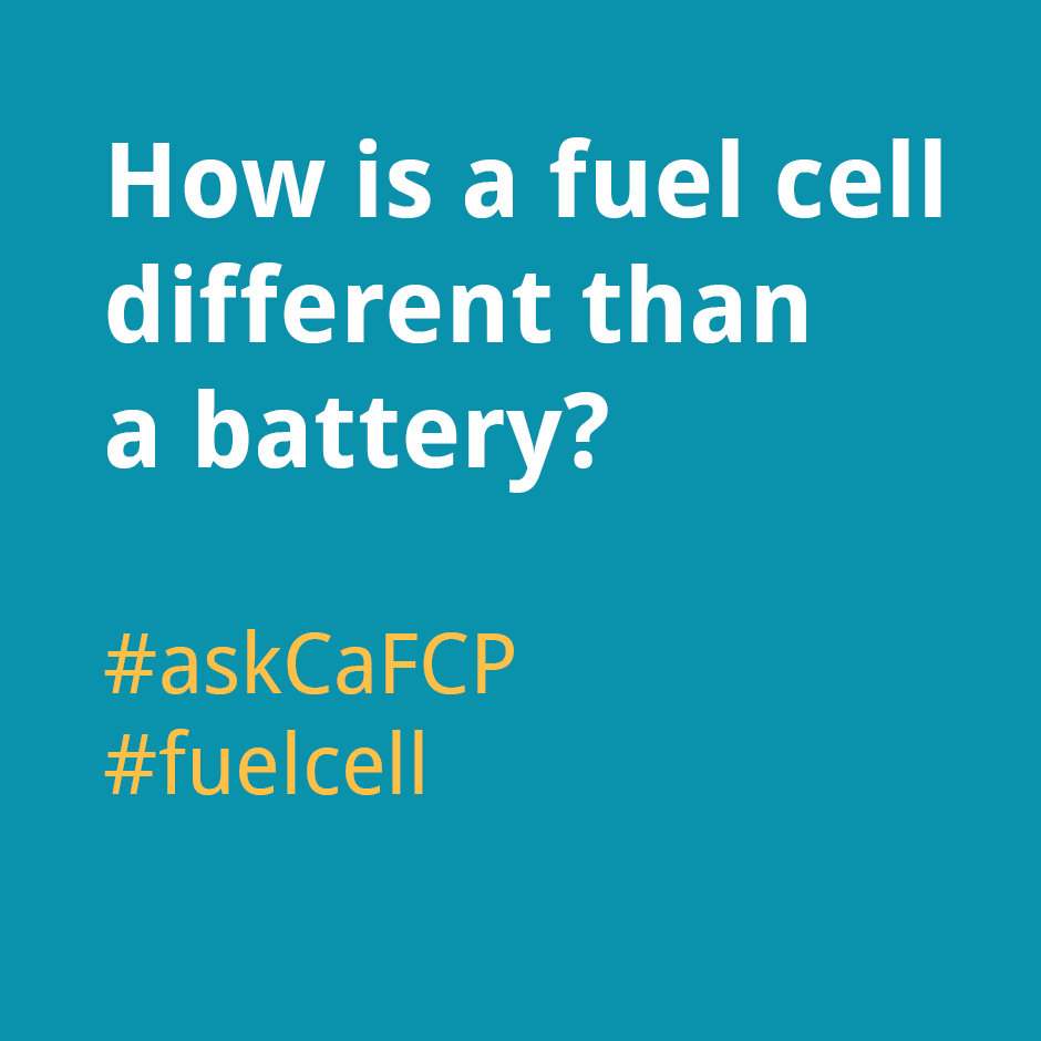 How is a fuel cell different than a battery?
