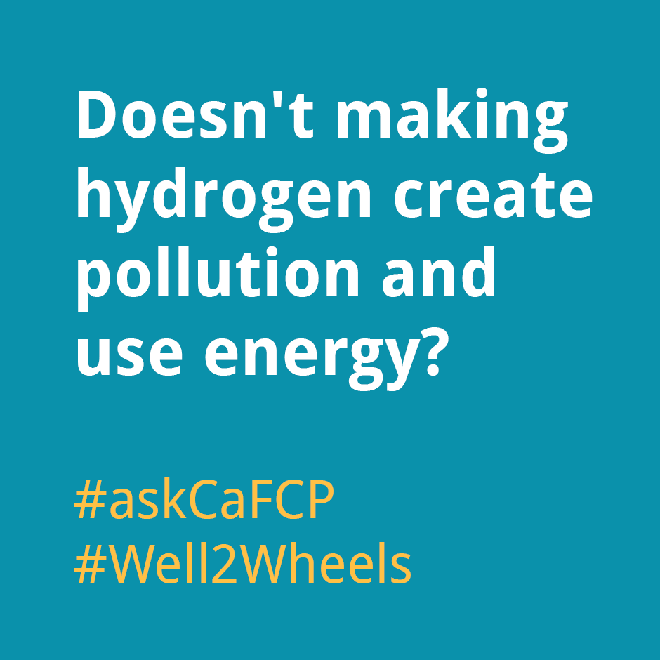 Doesn't making hydrogen create pollution and use energy?