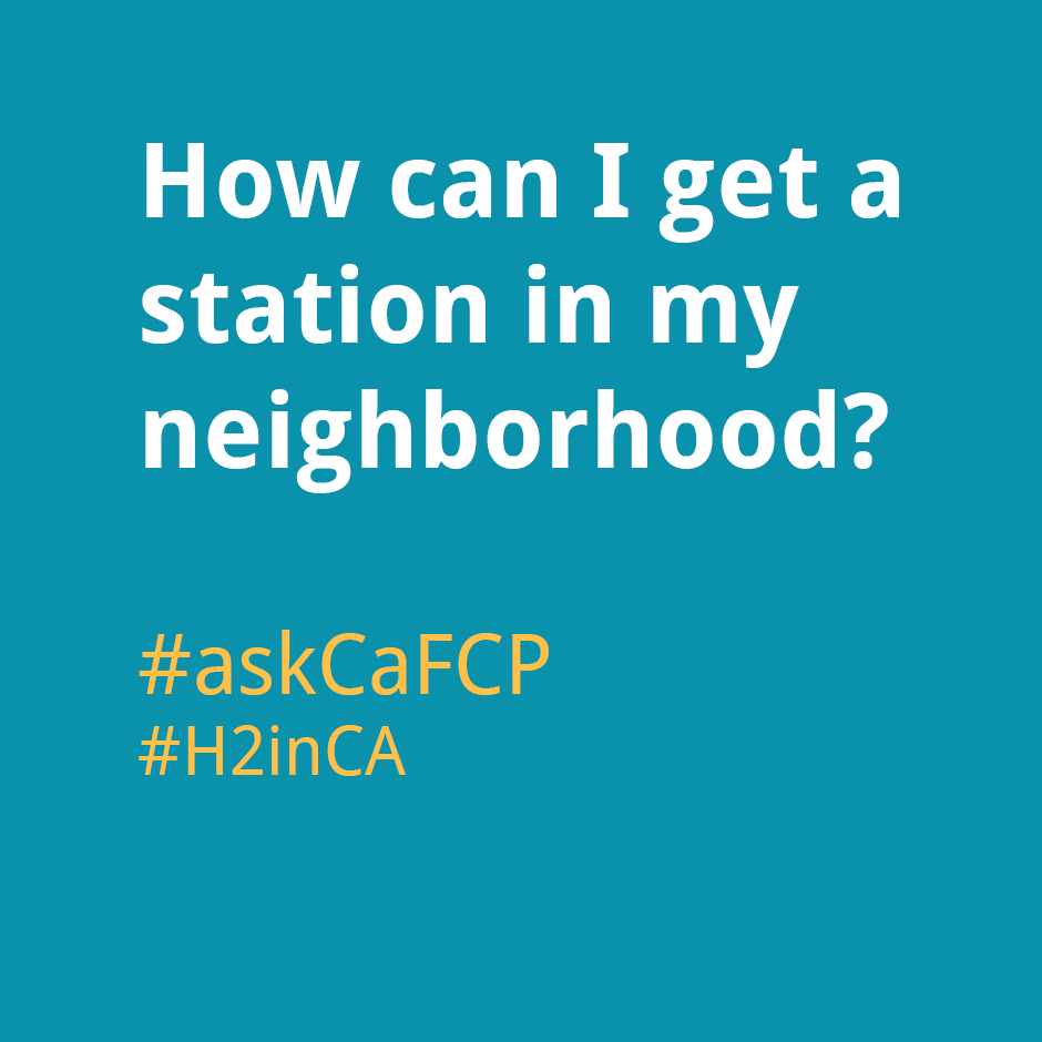 How can I get a station in my neighborhood?